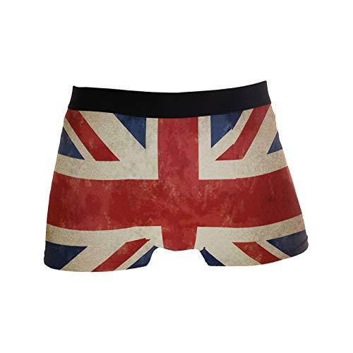 Linomo Herren Boxershorts Jahrgang UK Flagge Union Jack Englisch England Unterhosen Männer Herren Unterwäsche für Männer