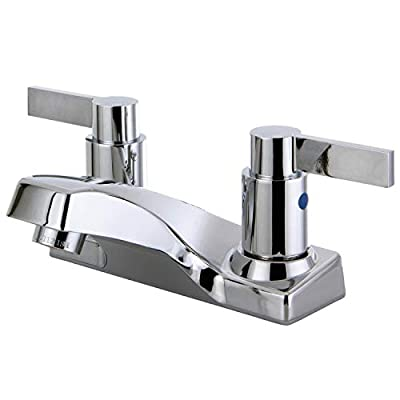 Kingston Brass in Spout Reach NuvoFusion Centerset Faucet, Polished Chrome