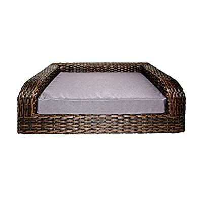 Cat Basket Iconic Pet Rattan/Wicker Pet Sofa Bed – Sofa Made of Woven... [tag]