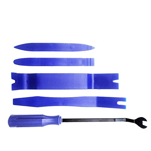 KingBra 5 herramientas de recorte diferentes, kit de 4 herramientas de extracción de plástico y 1 extractor de cierre, herramienta de extracción de panel de herramientas de instalación