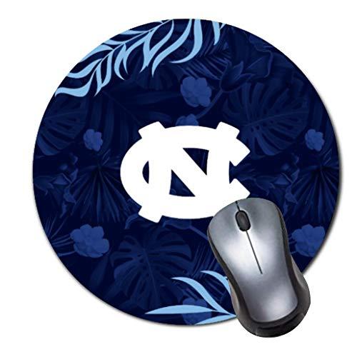 Tappetino per mouse rotondo con logo UNC tropicale hawaiano