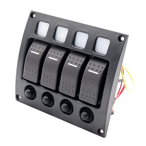 perfeclan 1 Stück Schalttafel LED Wippschalter Panel für Schalter Boot Schaltpaneel Schalttafel Schaltertafel