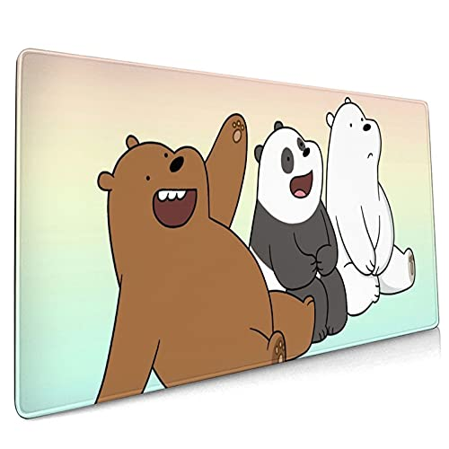 We Bare Bears Mouse Pad 15.8x35.5 in Multipurpose Comfortable Waterproof Mousepad Desk Mat for Gamer Office Home