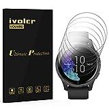 ivoler 6 Stück Schutzfolie Bildschirmschutzfolie für Garmin Venu/Amazfit Smart Watch 2, 3D Vollständige Abdeckung [Wet Applied] [Anti-Kratz] [Blasenfrei] HD TPU Weich Folie