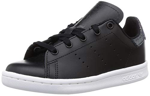 adidas Stan Smith C, Scarpe da Fitness Unisex-Bambini, Nero (Negro 000), 33 EU