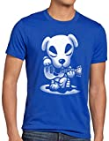 A.N.T. Slider Guitarra Camiseta para Hombre T-Shirt Switch Animal Videojuego Horizons, Talla:L, Color:Azul