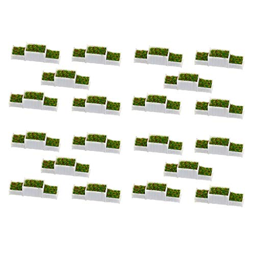 Harilla Confezione da 20 N 1: 150 Aiuole Pianta in Miniatura Modello Set Ornamenti per Scene da Tavola