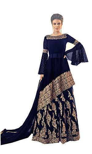 Ready Made Designer Indian Wear Anarkali Salwar Kameez Party Wear LT1 (blue, L-42)