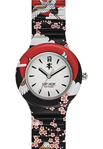 HIP HOP Ladys' I LOVE JAPAN WATCH Collection MONO-COLOUR WHITE dial 3 Hands...