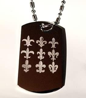 Fleur De Lis Various Logo Symbols - Military Dog Tag Luggage Tag Key Chain Keychain Metal Chain Necklace