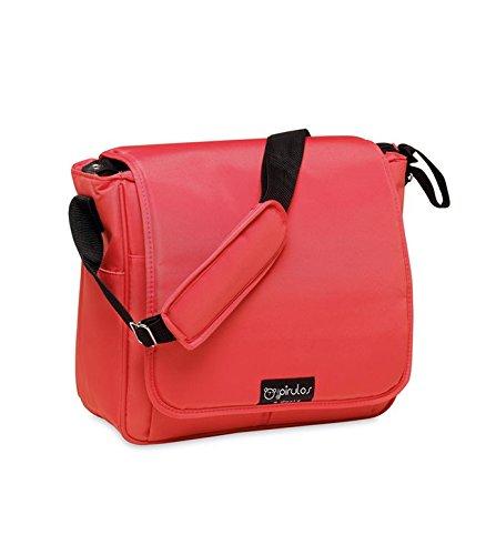 Pirulos Bolso Panera + Cambiador Bebé Portátil Basic con Materiales de Alta Calidad, Medidas 32x14x31cm Color Rojo