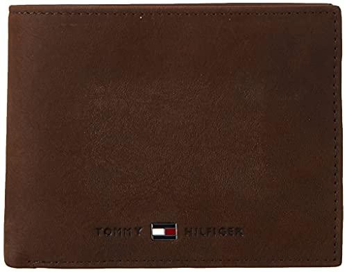 Tommy Hilfiger Johnson Cc And Coin Pocket Porta Carte di Credito, 75 cm, Marrone