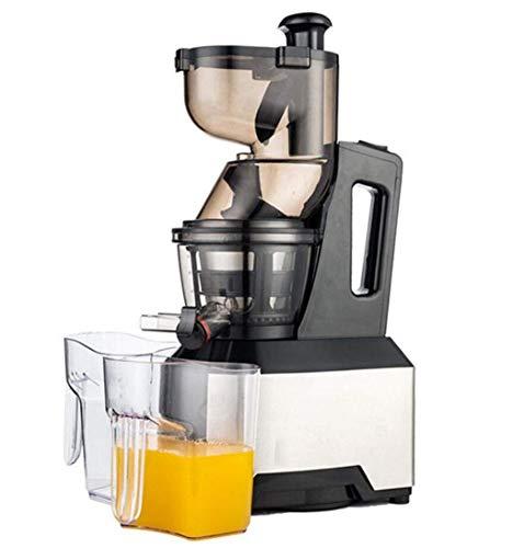 Qinmo Exprimidoras, hogar de acero inoxidable Diámetro exprimidor exprimidor grande lenta velocidad de hielo multifuncional leche de soja Crema de frutas y verduras de la máquina (Color : Black)