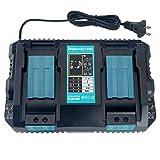 Wimaha DC18RD Dual Port Ladegerät Ersatz für Makita 18V Li-ion Akku BL1850 BL1850B BL1840 BL1840B BL1830, Makita Akku 14.4V BL1415 BL1430 BL1440