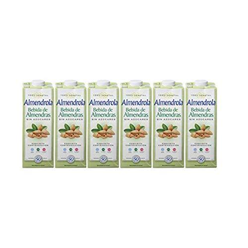 Almendrola Bebida Vegetal de Almendras sin Azúcar, 6 x 1L