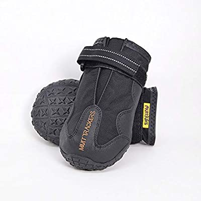 Muttluks-Mutt Trackers Year Round Dog Boot- Set of 2 - Size 8 (L) - Black 2 Pack