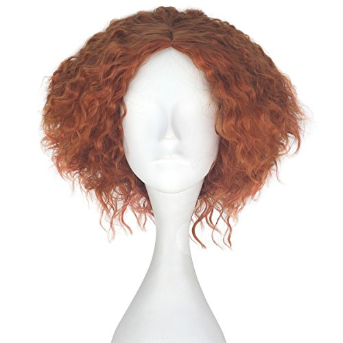Miss U Hair Synthetic Short Fluffy Curly Hair Men Boy Party Cosplay lolita Wig Halloween Adult(Auburn)