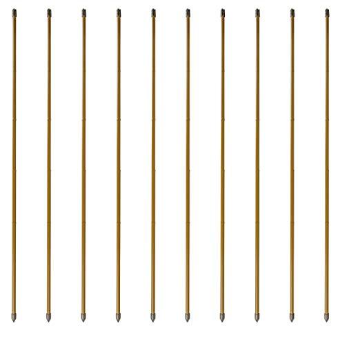 Windhager Bambusoptik-Set, Stahl-Rankstab, Pflanzenstütze, Rankhilfe, Pflanzstäbe, Tomatenstäbe, Braun, 10 Stück, 180 cm, 89140