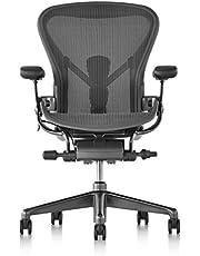 【正規品】 Herman Miller (ハーマンミラー) アーロンチェア オフィスチェア グラファイト(ブラック) BBキャスター 12年保証
