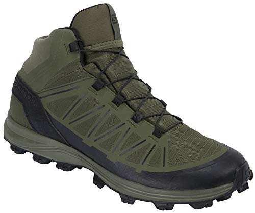 Salomon Men's Speed Assault Military and Tactical Boot, Olive Night/Olive Night/Black, 12