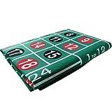 belukies Roulette Grande - Roulette Wheel - Rueda De Ruleta Enorme - Juego De Ruleta para Juegos De Casino - Juego De Ruleta Completo De Londres (60 120 Cm)