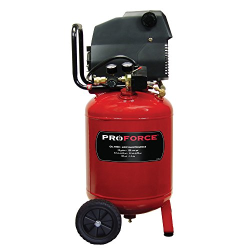Pro-Force VLF1581019 10-Gallon Oil Free Air Compressor with...