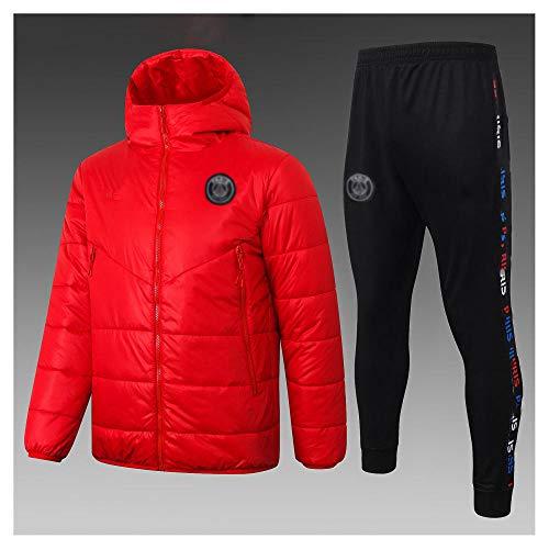 caijj Neue Herren Fußballuniform Geschenk Baumwolle Kleidung Fußball kältesicher Fußballfan kältesicher Anzug Fußball Hoodie männlich-B8ht-XL