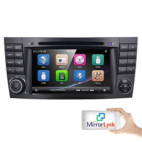 hizpo 2 Din Autoradio mit Bluetooth Autoradio für Mercedes-Benz E-Klasse W211 CLS-Klasse W219 G-Klasse W463 Lenkradfernbedienung Canbus RDS AM FM