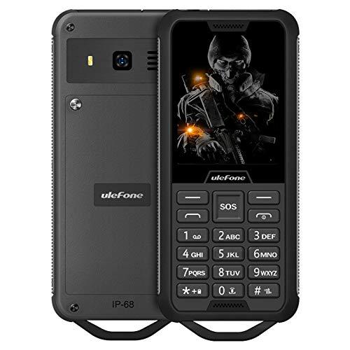 Teléfono móvil Ulefone Armor Mini 2 sin Contrato, Clase de protección IP68, batería de 2100 mAh, 32 MB de ROM y RAM, Soporte máximo para Tarjeta TF de 32 GB, (Negro)