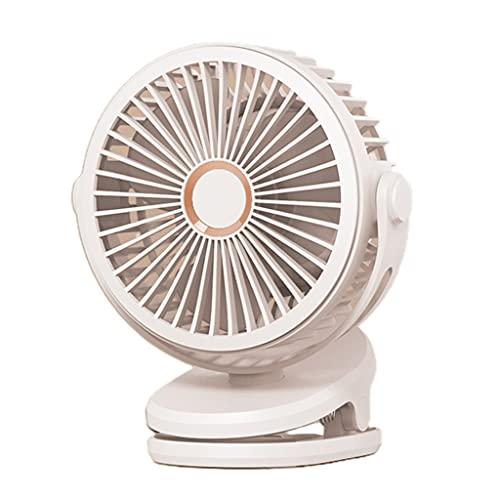 Meipai Clip on Fan, pequeño Ventilador de Escritorio Personal Recargable por USB 5000 / 10000mAh, con batería, para el Cochecito de la habitación del hogar del Dormitorio