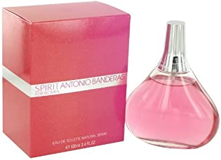 Antonio Banderas Spirit For Women Eau De Toilette Spray, 3.4 Ounce/100  ml
