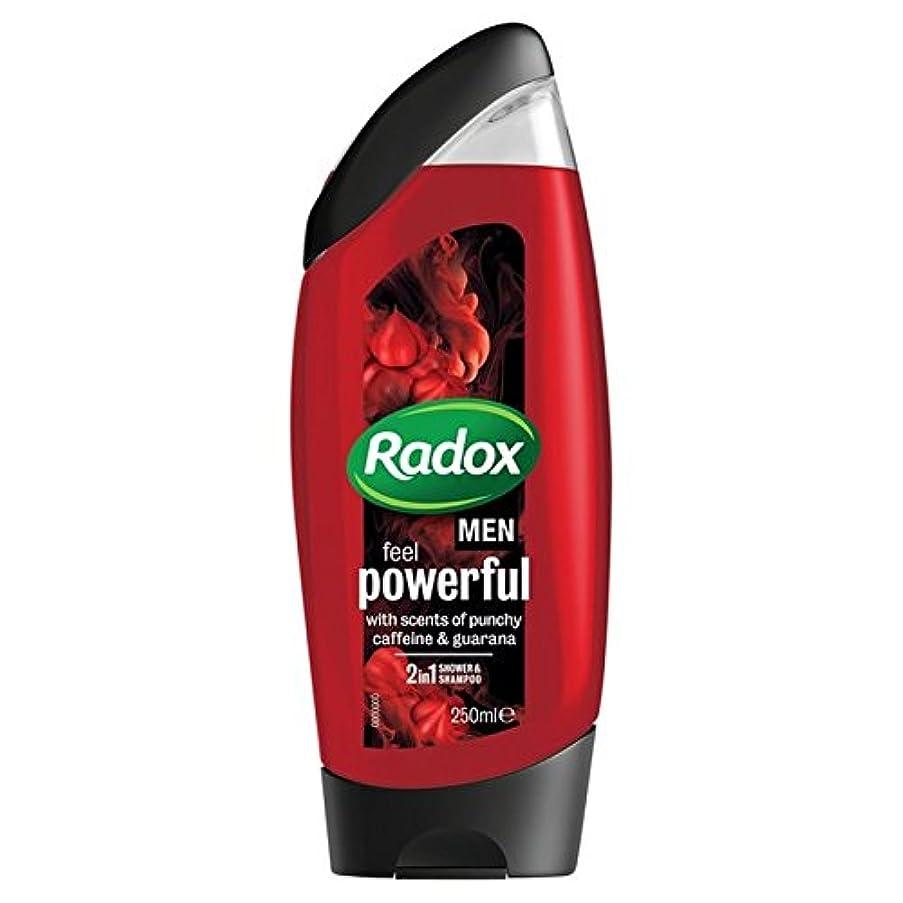 精巧な盟主とにかく男性は、強力なシャワージェル250ミリリットルを感じるため x4 - Radox for Men Feel Powerful Shower Gel 250ml (Pack of 4) [並行輸入品]