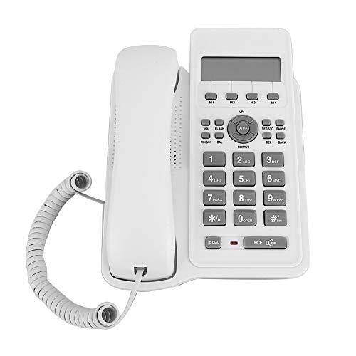 Telefono Commercio Estero, Cavo di Interfaccia a Due Fili Telefono Fisso Telefono da Tavolo a Risparmio Energetico da Parete per Casa Ufficio