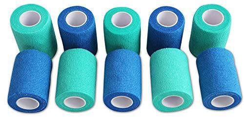 Venda Cohesiva - 5 Azul + 5 Verde