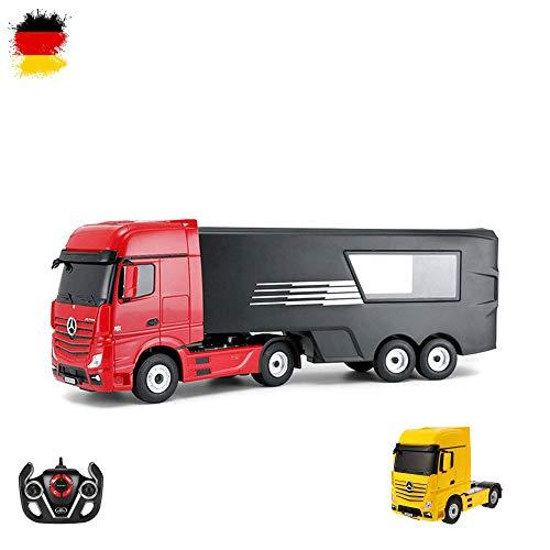 MERCEDES-BENZ ACTROS–RC, camion con cassone, 2,4GHz Edition, camion trasportatore, Truck, veicolo, motore Sound, LED, completo di set ink. Telecomando