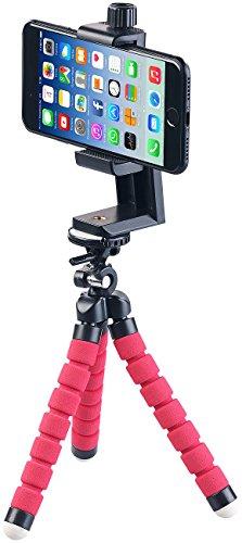 PEARL Handy Stativ: Ultraflexibles Dreibein-Kamerastativ mit Smartphone Halterung (kompatibel mit iPhone Stativ)