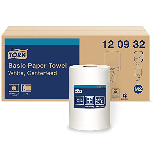 Tork Centerfeed Paper Towel White M2, High Absorbency, 6 x 500 Sheets, 120932
