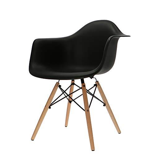 Popfurniture Designer Stuhl mit Armlehne | viele Farben, robust, leichter Aufbau | Ideale Esszimmerstühle, Stühle Esszimmer, Esstisch Chair, Küchenstühle, Essstühle, Esszimmerstuhl, Schalenstuhl