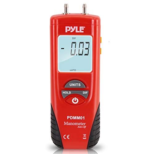 Manometer 11 Unit of Pressure - Meters Digital Measurement Maximum 10 PSI Data Hold & Error Code...