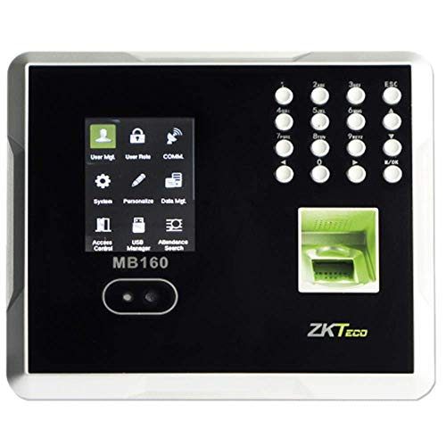 Biometric Face Recognition Time Clock | 100% Non Contact Solution, Just Face & GO | No Need to Press in/Out Keys | Cloud Monthly Subscription | Login from Anywhere | ADP-PayChex-QB-Others