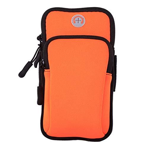Waterproof Mobile Phone Arm Bag Sports Fitness Outdoor Arm Sleeve Arm Bag Arm Strap Wrist Bag 18 * 10Cm Orange
