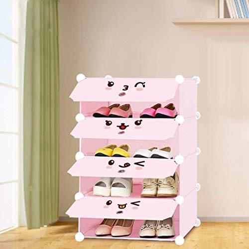 GJSN Organizador de Zapatos, Gabinete de Zapatos, Almacenamiento de Zapatos de Bricolaje Organzier Tower, Estantería de Gabinetes Modulares para Ahorrar Espacio, Estantes de Zapatos para Zapatos, Bot