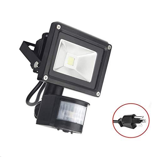 LED-projector, 10 W, warm wit, 3200 K, IP65, waterdicht, voor tuin, 3 stopcontacten, 265.00 V