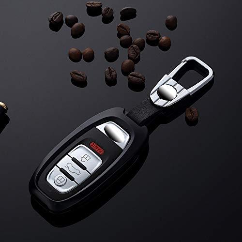 , para Audi A4 A5 A6 A7 A8 Q5 B6 B7 B8 TT S5 Q7 Caja de Llave de Coche con Control Remoto Inteligente Caja de Llave de Coche de Aluminio