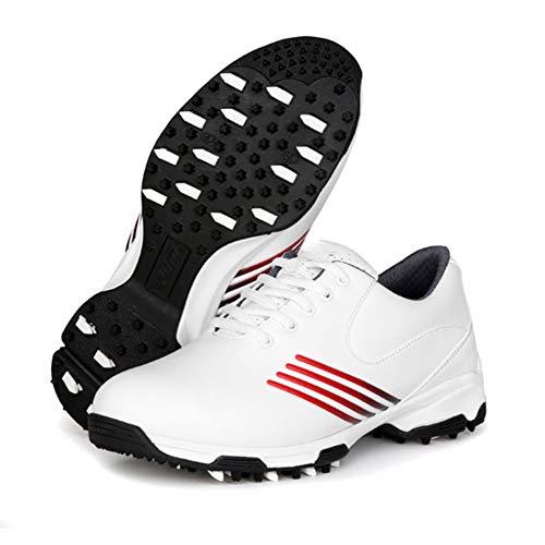 CGBF - Damen Golfschuhe Outdoor Wasserdicht rutschfest Sportschuhe Leichte Atmungsaktive Laufschuhe Casual Sneakers für mehr Stabilität, Rot - rot - Größe: 39 EU