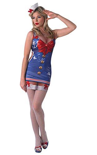 Rubies Officielle Unisexe véritable l'Attrait de l'Saucy Sailor, cerf Enterrement Saucy Fun Sexy, Costume Adulte – XS