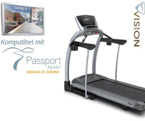 Vision Fitness TF 20Elegant Tapis Roulant incluso Gratis Polar cardiofrequenzimetro e cintura pettorale