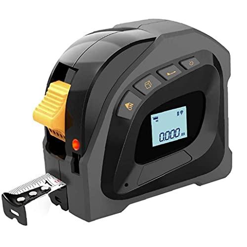 YepYes 2 en 1 Cinta métrica de medición 40m de Cinta medición de Distancia por Infrarrojos 5m Negro con Pantalla LCD