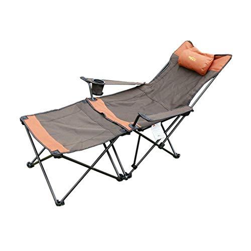Liegestuhl Campingstuhl 2 In 1 Camping Stuhl mit Fußstütze Recliner Klappbarer Chaiselongue Stuhl (Fußstütze Kann zum Beistelltisch Werden) zum Angeln Am Strand Picknick Festival Freizeit Klappbar Lie