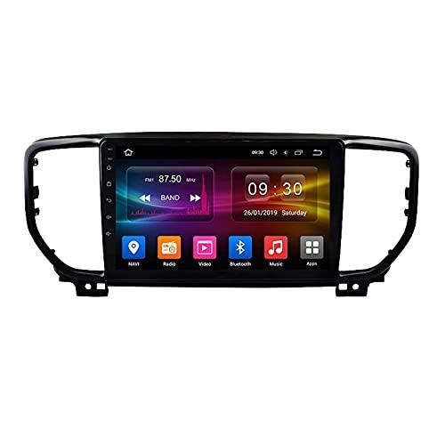 Autoradio Android 10.0 Radio compatibile Kia Sportage 4 QL 2016-2018 Navigazione GPS Unità principale da 9 pollici Touchscreen HD Lettore multimediale MP5 Video con WiFi DSP SWC Mirrorlink Video mont